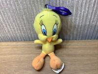 Looney Tunes Tweety Pie Plush Keyring Rare Soft Toy Pram Charm Bag Clip Retro 3D
