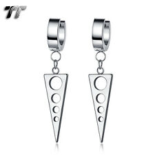 Quality TT Plain 316L Stainless Steel Hoop Dangle Circle Earrings (EH121S)