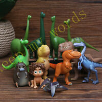 12 Pcs Disney Cartoon The Good Dinosaur Arlo Bubbha PVC Figure Cake Topper Toy