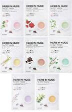MISSHA Herb In Nude Sheet mask Variety Set [8 Sheets]