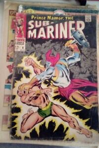 Prince Namor the SUB-MARINER 1968 MARVEL comics N. 4 sub mariner