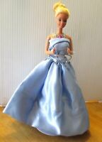 Original Ballet Barbie Doll Long blonde hair blue long evening dress & shoes
