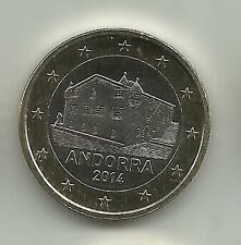 ANDORRA - 1 EURO  2014 UNCIRCULATED NEW ISSUE 3DG 10FEB