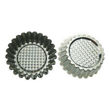 20pcs Baking Egg Tart Mold Stainless Steel Reusable Cupcake Muffin Molds Cups