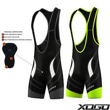 XOGO Men's Performance Cycling Bib Shorts Outdoor Padded Cycle Road Bike Pants