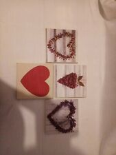 4x Heart Canvasses