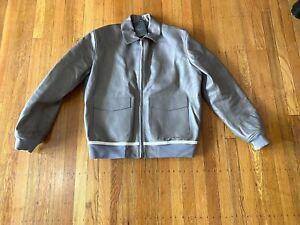 Berluti Paris Leather Flight Jacket / 52
