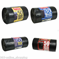 More details for large heavy duty black refuse sacks strong thick recycle rubbish bags bin liners