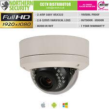 Sony IMX 2MP 2.8-12MM POE ONVIF P2P Audio Mini Dome Telecamera di sicurezza di rete IP