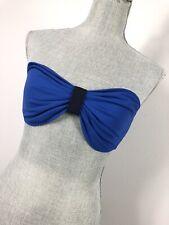 One Star Converse Bikini Womens Large Blue Black Strapless Swim Top