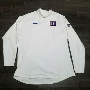 NIKE NFL New York GIANTS On Field Pro Combat Compression LS Shirt Mens 2XL