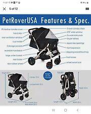 Nib Hpz Pet Rover Xl Extra-Long Premium Heavy Duty Dog/Cat/Pet Stroller Travel