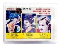 1980-1981 Gretzky Dionne Lafleur #162 Oilers Kings OPC OPeeChee Hockey Card H575
