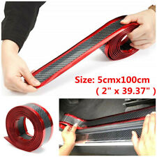 US Car Parts Accessories 5D Carbon Fiber Door Plate Cover Anti Scratch Sticker