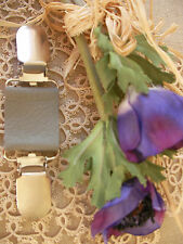 Leather Clip ~ Jeanne d'un arc ~ robe/cardigan ~ gris perle/70 couleurs + Magnolia BN