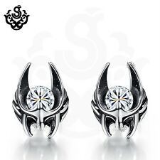 Silver stud clear made with swarovski crystal earrings soft gothic 0.25ct
