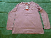 sweat/tee shirt rose manches longues NEUF avec étiquette taille 12 ans OKAOU