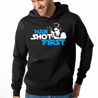 Han Shot First Han Solo Star Wars Satire Parodie Kapuzenpullover Hoodie Sweater
