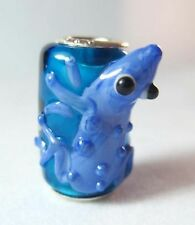 .925 MURANO GLASS BEAD FOR Charm European Bracelet Lucky Toad Frog