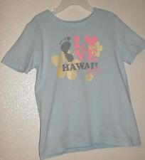 American Apparel Kids Girls Shirt Light Blue Size 6 Hawaii brand name designer