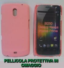 Pellicola + custodia BACK cover RIGIDA ROSA per Samsung Galaxy Nexus I9250