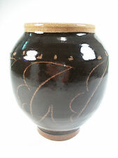 Vintage Studio Pottery Stoneware Vase - Indistinctly Signed - Circa 1980's
