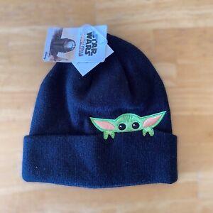 Star Wars The Mandalorian Baby Yoda Peeking Beanie NEW WITH TAGS