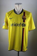 FC Barcelona Trikot 2008-09 Gr. L Jersey maglia Away Unicef Nike Shirt gelb