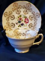 Tea Cup & Saucer, Vintage Royal Grafton Fine Bone China Numbered England
