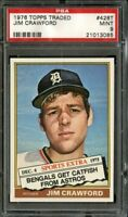 1976 TOPPS TRADED #429T JIM CRAWFORD PSA 9 *K0411