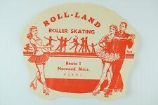 1930's-50's Roller-land Roller Skating, Norwood, Mass. Label B2