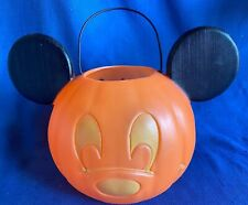 New listing Vintage 1990s Disney Mickey Mouse Trick or Treat Halloween Ear Loot Candy Bucket