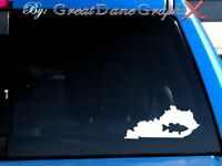 Kentucky Bass Fishing State Vinyl Decal Sticker/ Color-HIGH QUALITY