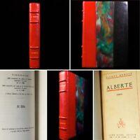 🌓 EO PIERRE BENOIT Alberte 1926 tirage de tête belle reliure signée F. RECURT
