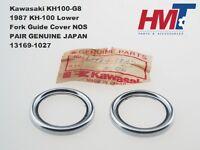 Genuine Kawasaki KH100 G8 KH-100 Lower Fork Guide Cover 13169-1027 NOS JAPAN x2