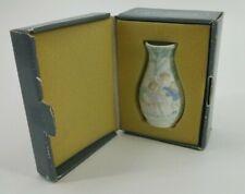 """Vtg Lladro Miniature Mini Small Porcelain Vase w/ Box 4"""" Children Dog Park 5258"""