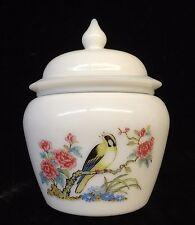 Vintage Avon Ginger Jar Bird & Floral Design