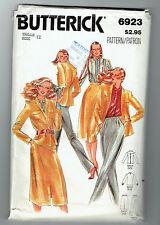 BUTTERICK 6923   pattern blouse jacket skirt pants suit  SZ 12 uncut unused