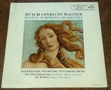 "CHARLES MUNCH ""Conducts WAGNER"" / RCA LM-2119 Red Seal Plum Label VG+/VG+"