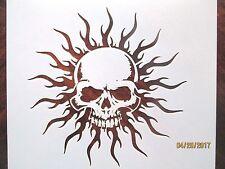 Sun Skull Stencil Reusable 10 mil Mylar Stencil