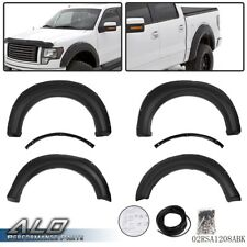 2009-2014 F150 Offroad 6PC Pocket Rivet Style Black Wheel Fender Flares Cover