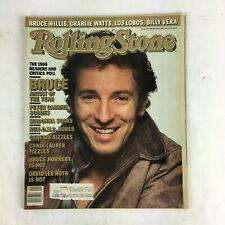 February 1987 Rolling Stone Magazine Bruce Peter Gabriel Madonna Soars Genesis
