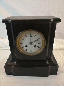HORLOGE en MARBRE pendule borne style NAPOLEON III REMONTAGE MANUEL horlogerie W