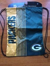 BRAND NEW!! NFL Green Bay Packers Green & Gold Polyester Drawstring Backpack