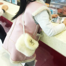 Cute Soft Children Kids Girls Mini Crossbody Bag Imitation Fur Bag Purse Bowknot