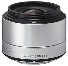 Sigma 19mm F2.8 EX DN Art Lens (Silver) for Micro 4/3 (Sigma 4 Year Warranty)