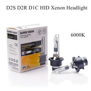 2x D2S D2R 6000K HID Xenon Bulbs Headlight Globes Replace for Philips for Osram