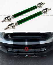 Green Adjustable Front Bumper Lip Splitter Strut Rod Tie Support Bar For Dodge