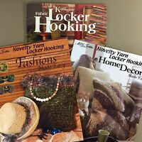 Lot of 3 Locker Hooking craft books Home Decor Fashions & Kathleens MCG Textiles