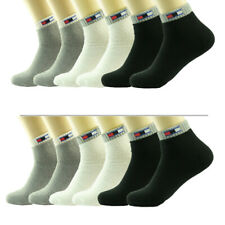 3-12 Pairs Mens Ankle Quarter Crew Tom Sports Athletic Socks Cotton Size 9-11